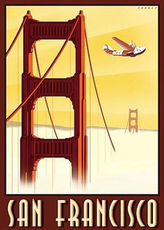 vintage travel posters san francisco