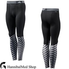 5c68b70546 Adidas Techfit Base Shockwave Long Tights D88636 Grey/Black Climalite Men  Pants #adidas #