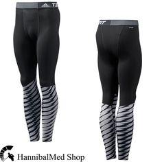 Adidas Techfit Base Shockwave Long Tights D88636 Grey/Black Climalite Men Pants #adidas #Pants