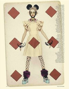 Paolo Roversi's British Vogue playing card themed edit starring Magda