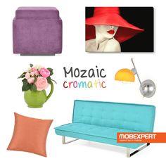 Explozie de culori pentru un decor primăvăratic. #decoideea #moodboard #living