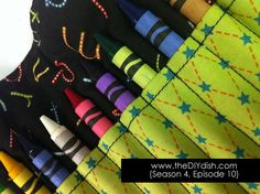 crayon roll - this would be perfect for all the traveling we do! (and i could make one for myself for makeup!)