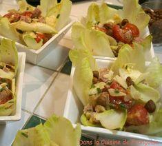Salade d'Endive avec du Jambon et du Fromage de Brebis