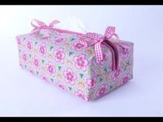 Tissue Box Cover sewing tutorial by Debbie Shore, My Crafts and DIY Projects