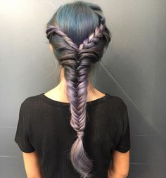 This smokey blue and purple hair is calling my name - City Beats hair inspo by Redken Artist Sean Godard | bold hair color, smokey hair color, trendy haircolor, braid