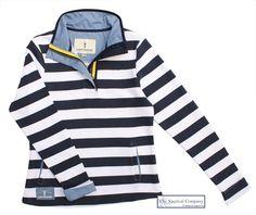 Women's Nautical Striped Sweatshirt, White/Navy Blue - THE NAUTICAL COMPANY, http://www.thenauticalcompany.com/womens-nautical-sweatshirt/prod_308.html