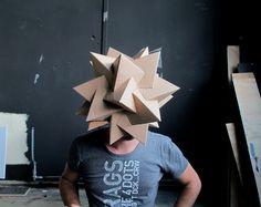 Cardboard Masks by Sjors Vervoort, via Behance Cardboard Mask, Cardboard Sculpture, Cardboard Crafts, Paper Crafts, Mascara 3d, Masks Art, Ap Art, Mask Design, Set Design