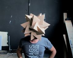 Cardboard Masks by Sjors Vervoort, via Behance