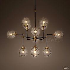 【Restoration Hardware】デザインシャンデリア「BISTROGLOBE」12灯(W1100×H2300mm) 海外照明専門店 EL JEWEL Lighting