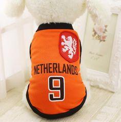 World Cup Soccer Jerseys. Puppy Wear Co. Sports Dog Vest Cat Shirt Pet  Clothing Summer Cotton Sweatshirt Football ... 1f9e7ecf9
