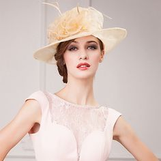 Gorgrous Organza Wedding/ Honeymoon Hat With Bud silk And Floral (More Colors) – USD $ 21.99