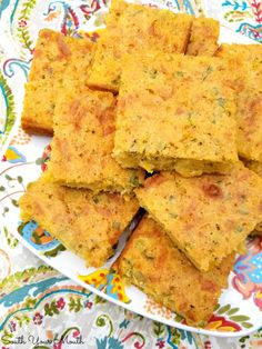 A rustic, savory cornbread recipe chocked full of jalapeno peppers, jack cheese, creamed corn and green onions. Savory Cornbread Recipe, Mexican Cornbread, Cornbread Salad, Jalapeno Cornbread, Cornbread Muffins, Cornbread Dressing, Flour Recipes, Bread Recipes, Cooking Recipes