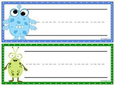 Little Monsters Nameplates & Tags Preschool Names, Name Activities, Preschool Class, In Kindergarten, Monster Room, Monster Party, Monster Theme Classroom, Classroom Themes, Cute Monsters