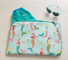 Aqua Mermaid Wet/Dry Bag #pbkids