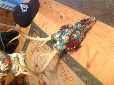 Decorated deer skull.....