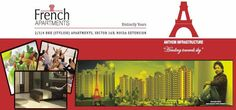 French apartments by Anthem Group. French Apartments greater noida west, noida extension in well designed city offer 2/3 BHK luxurious residential apartments or flats in Noida. For booking or buying Call 9810266366.