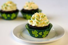 Irish Carbomb cupcakes!! St. Pattys day!