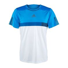 For the ultimate in style and performance, you'll want to compete in this Adidas Barricade Crew. No-sew bonded seams at the neckline and sleeve openings offer no-abrasion comfort. This Climacool top a Camisa Nike, Camisa Polo, Tennis Shirts, Tennis Clothes, Tennis Gear, Adidas Barricade, Golf Wear, Athletic Outfits, Sport Wear