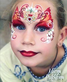 Face Painting Designs, Paint Designs, Princess Face Painting, Paint Ideas, Face And Body, Body Art, Bling, Costume, Kids