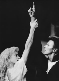 David Bowie and Louise Lecavalier