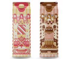 Kawaii milkshake packaging