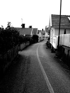 A small street in Lysekil,Sweden. A perfect place for daydreamers.