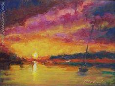 Madarász Zoltán - Napfelkelte_ Balaton című festménye