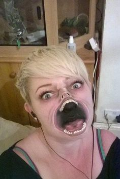 The 33-year-old said she had no training, and taught herself to face-paint at home in Rugby, Warwickshire.   This Care Worker's Face Paintings Are Incredible And Truly Terrifying