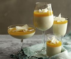 White Chocolate Mousse with Passionfruit