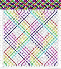 Esquema pulsera de hilos estampado de rombos efecto 3D
