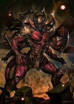 Monster by Jiunn Kuo on ArtStation. Fantasy Demon, Fantasy Beasts, Demon Art, Fantasy Monster, Monster Art, Dark Fantasy Art, Fantasy Artwork, Creature Concept Art, Creature Design
