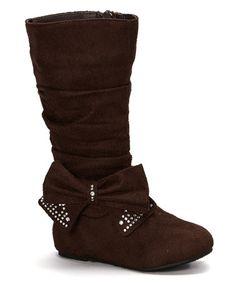 Look what I found on #zulily! Brown Bow Bella Boot #zulilyfinds