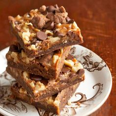 Your guests will never guess that these crazy-good Chewy Chocolate-Caramel Bars came from a box recipe (we won't tell)! More dressed-up box recipes: http://www.bhg.com/recipes/desserts/chocolate/brownies-and-bars/brownies-from-a-mix/?socsrc=bhgpin091313brownierecipesfromboxpage=7