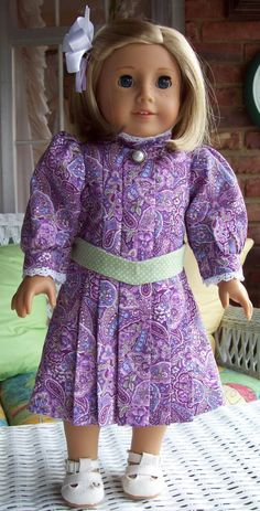 Fits American Girl doll or 18 inch doll.  Doll by ASewSewShop, $22.00