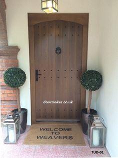 oak door tudor arch
