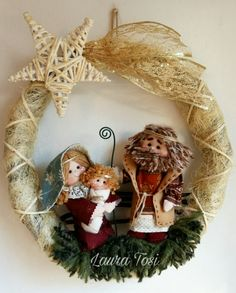 Christmas Time, Christmas Wreaths, Christmas Gifts, Christmas Ornaments, Corn Husk Wreath, Holy Night, Xmas Decorations, Grapevine Wreath, Diy And Crafts