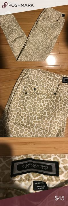 Kardashian Kollection Leopard Jeans Cute, fun, flirty, these jeans can be dressed up or down. Worn to work with a cute sweater or a night out with a cut top! Worn a few times, great condition! Kardashian Kollection Jeans Skinny
