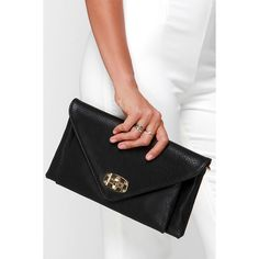 MMS Trading Out Tonight Black Clutch ($26) ❤ liked on Polyvore featuring bags, handbags, clutches, black, envelope clutch bag, black purse, imitation handbags, black envelope clutch and envelope clutch