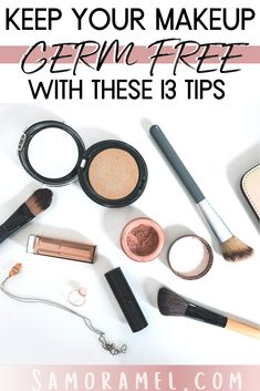 I am going to give you 13 steps to prevent contamination and keeping your makeup germ-free guaranteed! Best Makeup Tips, Best Beauty Tips, Best Makeup Products, Beauty Hacks, Top Beauty, Makeup Hacks, Makeup Tutorials, Beauty Products, Dewy Skin