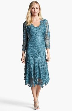 Soulmates Beaded Crochet Silk Dress