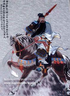 Chinese silk embroidery art