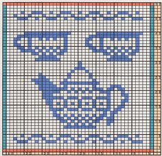 Here I offer only the chart pattern for a potholder. I am assuming that you fami… Here I offer only the chart pattern for a potholder. I am assuming that you familiar with the double-faced knitting technique to. Knitted Washcloth Patterns, Crochet Headband Pattern, Crochet Patterns, Cross Stitch Tree, Cross Stitch Borders, Cross Stitch Patterns, Filet Crochet Charts, Knitting Charts, Diy Embroidery