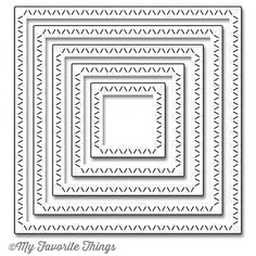 My Favorite Things ZIG ZAG STITCHED SQUARE STAX Die-Namics MFT696