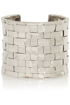 NNDRA NEEN Thatched silver-tone cuff