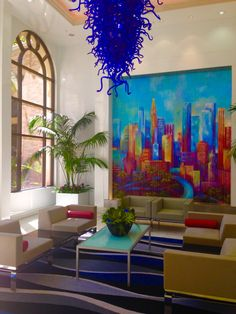 Apartment lobby downtown Los Angeles - August 2015