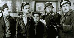 """Hogan's Heroes"" -- with, from left, Richard Dawson, Bob Crane, Robert Clary, John Banner and Werner Klemperer"