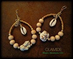 OLAMIDE Tribal Hoop Earrings ~ My Wealth Has Arrived.