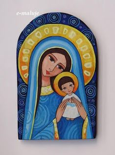 Madonna Art, Madonna And Child, Catholic Art, Religious Art, Angel Artwork, Mother Art, Learn Art, Sacred Art, Dot Painting
