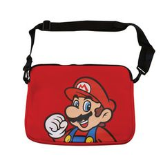 Mario Print Laptop Bag Red, 25€, now featured on Fab.