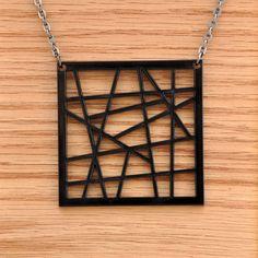 Trendsetting Acrylic Laser Cut Chic Pendant by moderngirljewelry, $10.00